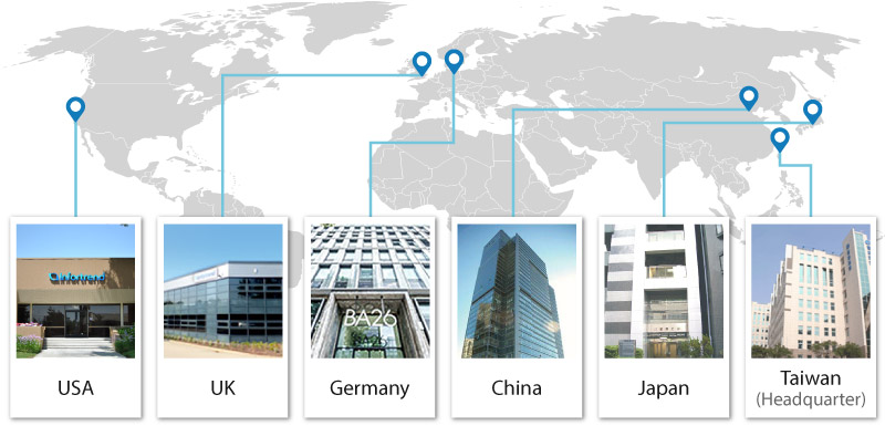 Map of Infortrend Worldwide Office