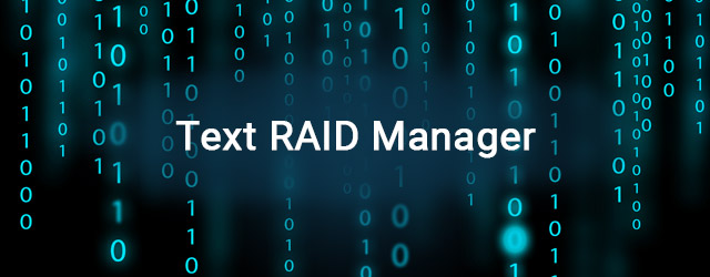 Released Infortrend Text RAID Manager