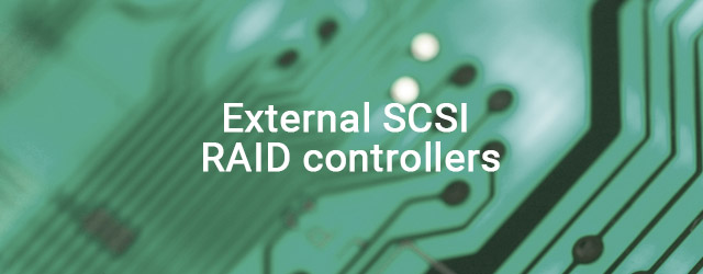 Launched external SCSI RAID controllers