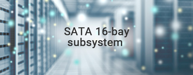 First to ship native SATA 16-bay subsystem