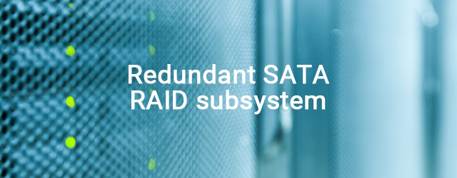 First to ship redundant SATA RAID subsystem