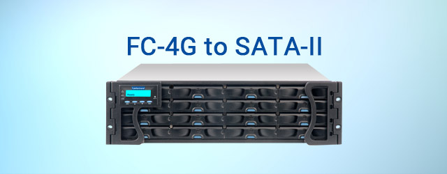 Released Infortrend's first FC-4G to SATA-II RAID subsystem