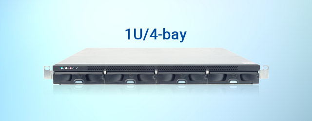 Released Infortrend's first 1U/4-bay RAID subsystem