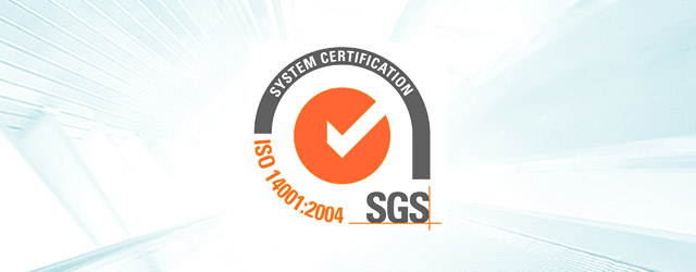 Certified for ISO 14001:2004