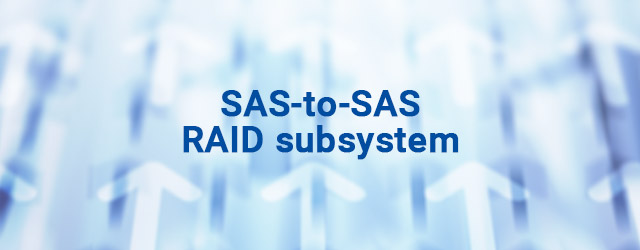Launched Infortrend's first SAS-to-SAS RAID subsystem