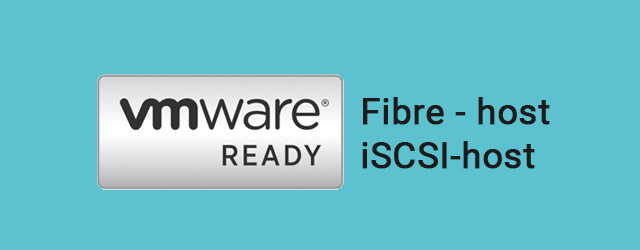 Passed VMware Hardware Certification Program for Fibre