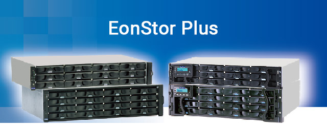 Announces new EonStor Plus subsystem and disk drive bundle service