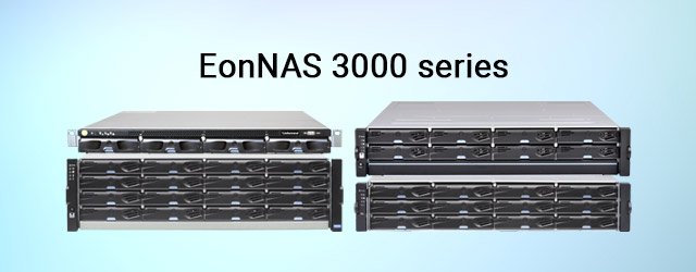 Introduced the high availability EonNAS 3000 series with active-active redundant controllers