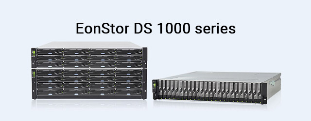 EonStor DS 1000 series with affordable price and enterprise features