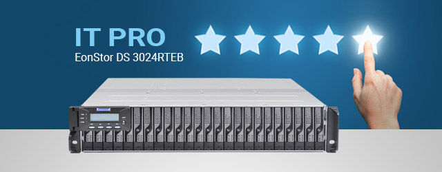 Infortrend EonStor DS 3024RTEB scores a 5-star review