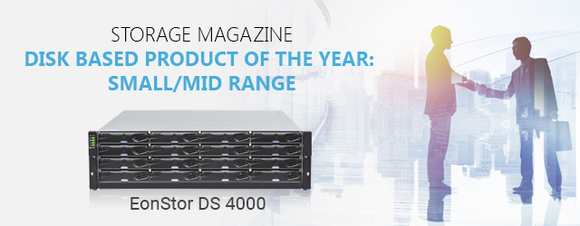 Awarded Disk Based Product of The Year - Small/ Mid Range