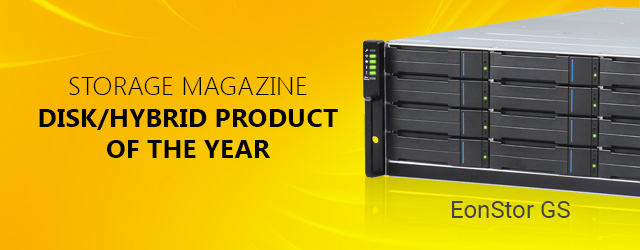 EonStor GS wins Disk/Hybrid Product of the Year award
