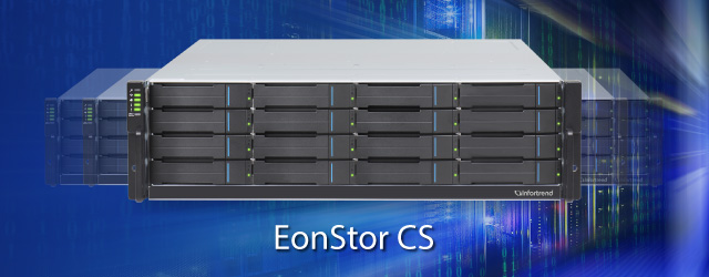 Introduced EonStor CS scale-out shared storage with up to 100+GB/s read/write performance and 100+PB capacity