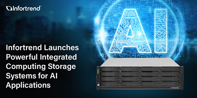 Infortrend Launches Powerful Integrated Computing Storage Systems for AI Applications
