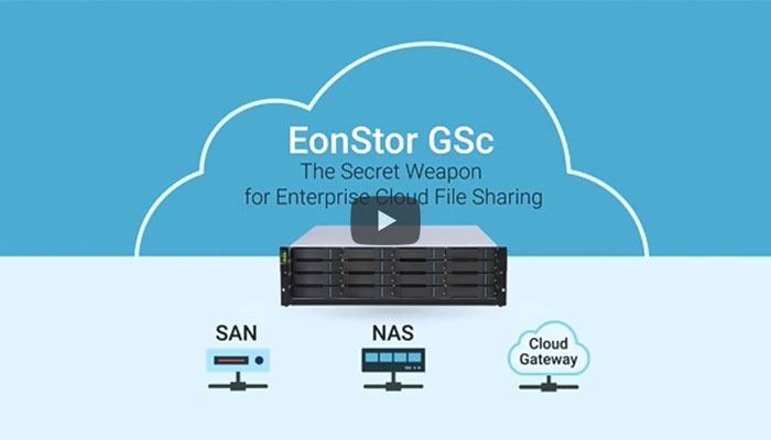 The Secret Weapon for Enterprise Cloud File Sharing - EonStor GSc Family