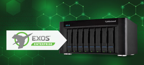 EonStor GSe Pro Desktop Series with Seagate Exos™ Hard Drives