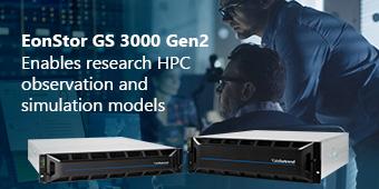 EonStor GS 3000 Gen2 Enables research HPC observation and simulation models