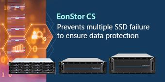 EonStor CS-Prevents multiple SSD failure to ensure data protection