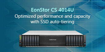 EonStor CS 4014U-Optimized performance and capacity with SSD auto-tiering