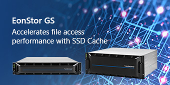 EonStor GS-Accelerates file access performance with SSD Cache